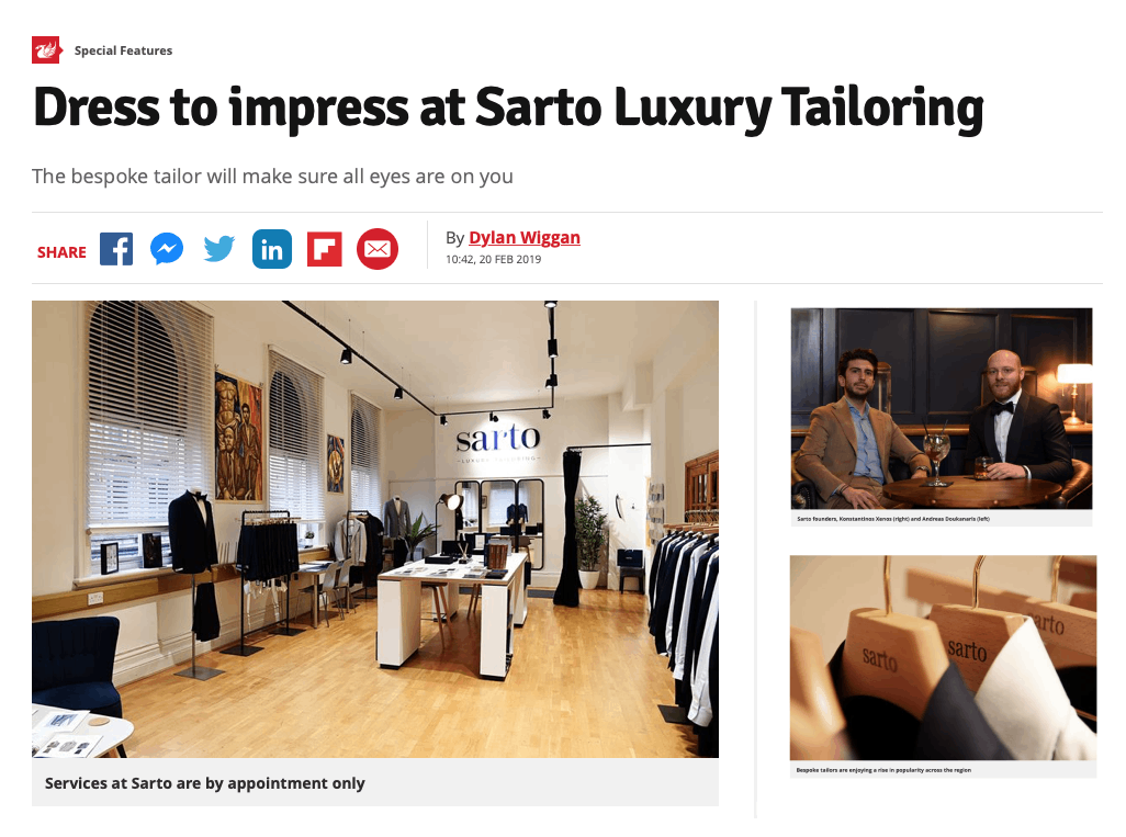 Sarto Liverpool Echo Article